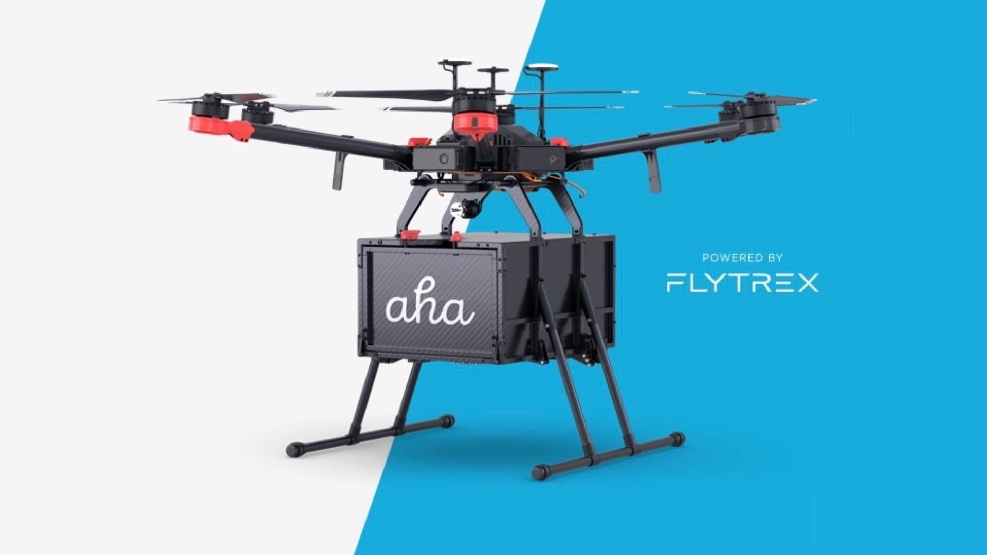 Aha delivers coffee by drone in Reykjavik, Iceland