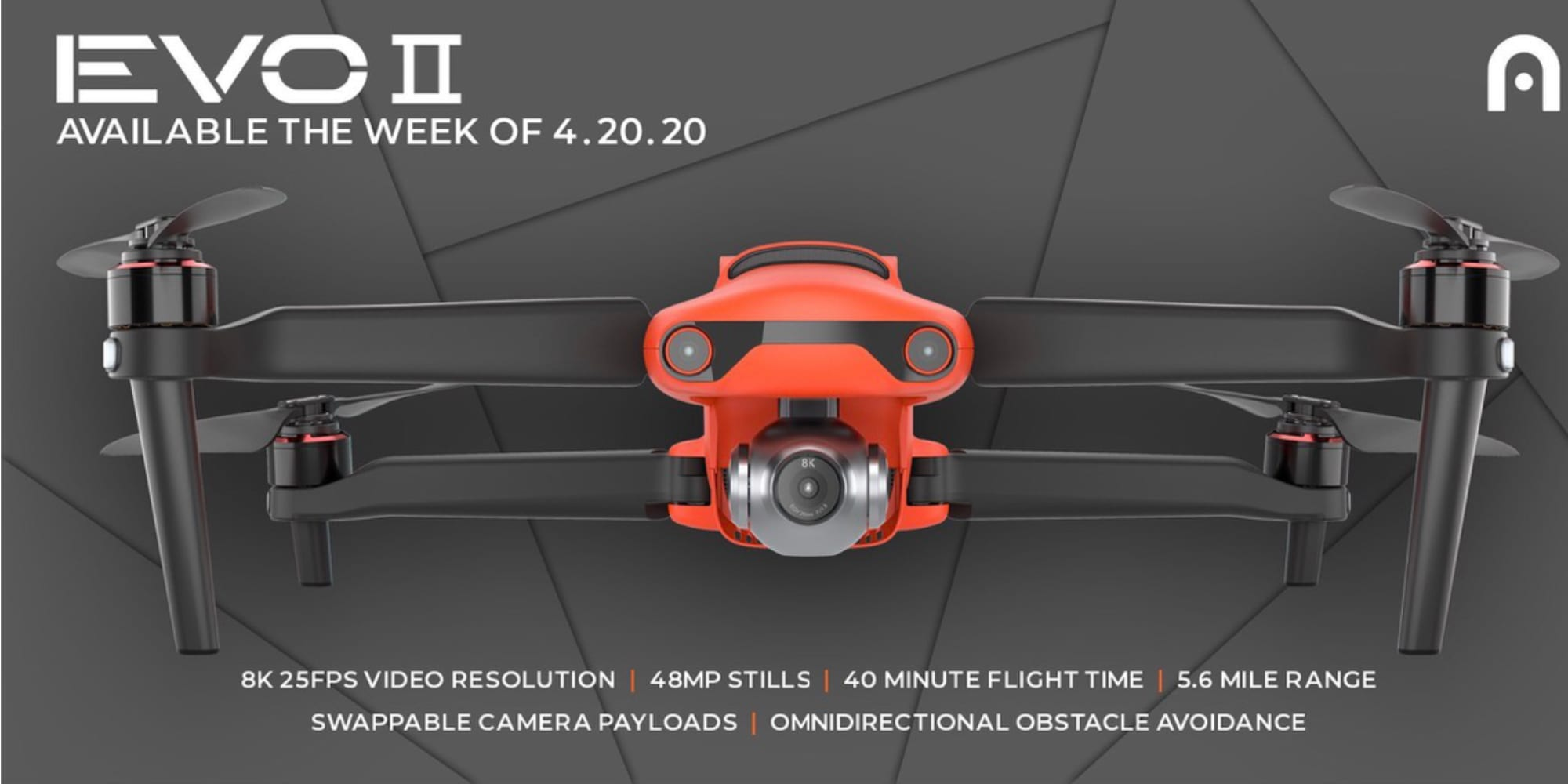 Autel EVO II available in the week of April 20th, 2020