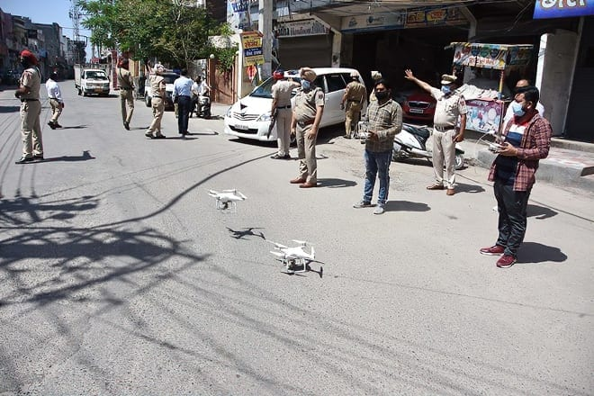 Coronavirus: Surveillance drones put into service to enforce curfew in India