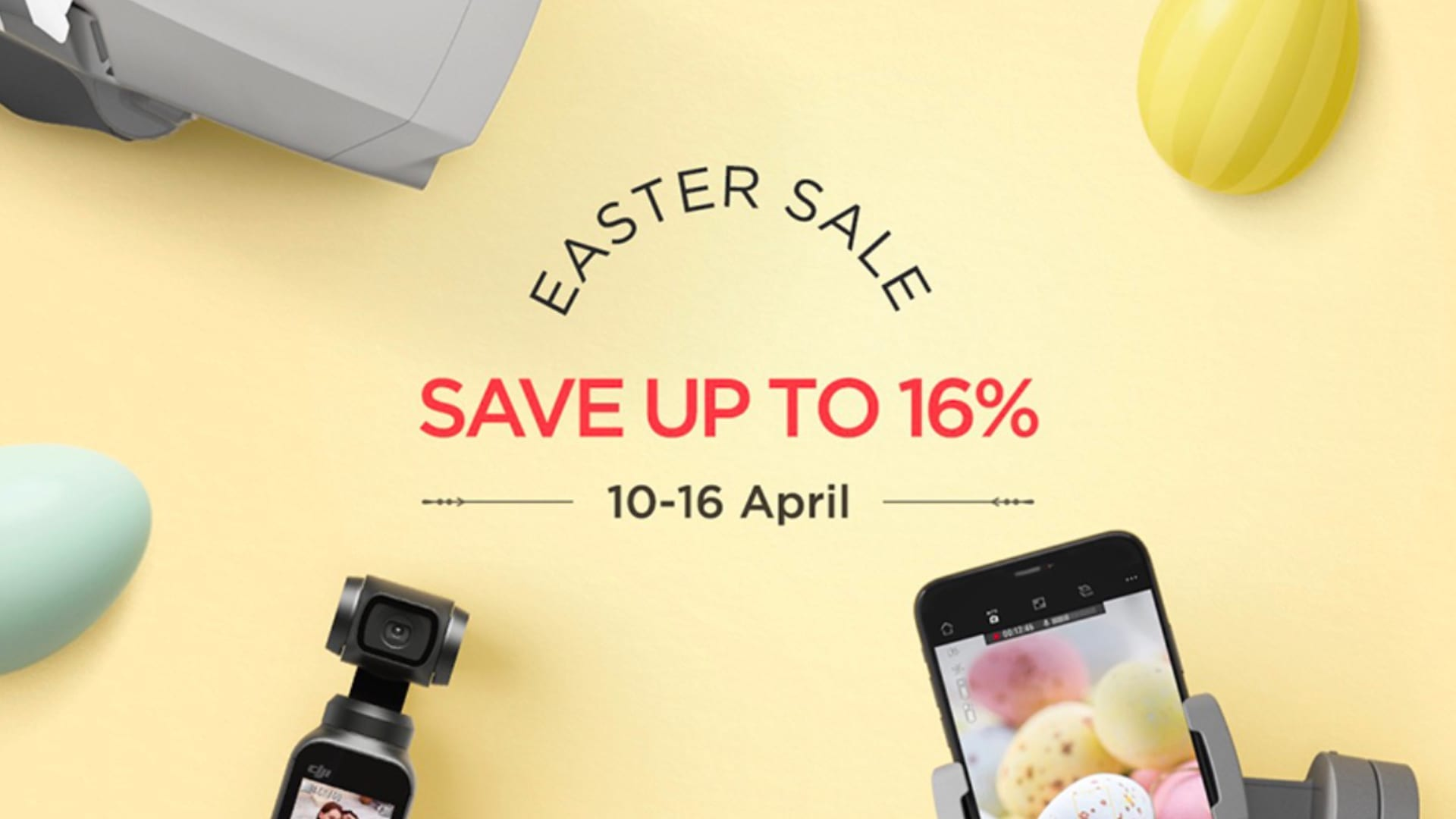 DJI officially announced its DJI Easter Sale for the U.S. and Canada with some nice discounts on a limited number of DJI products.