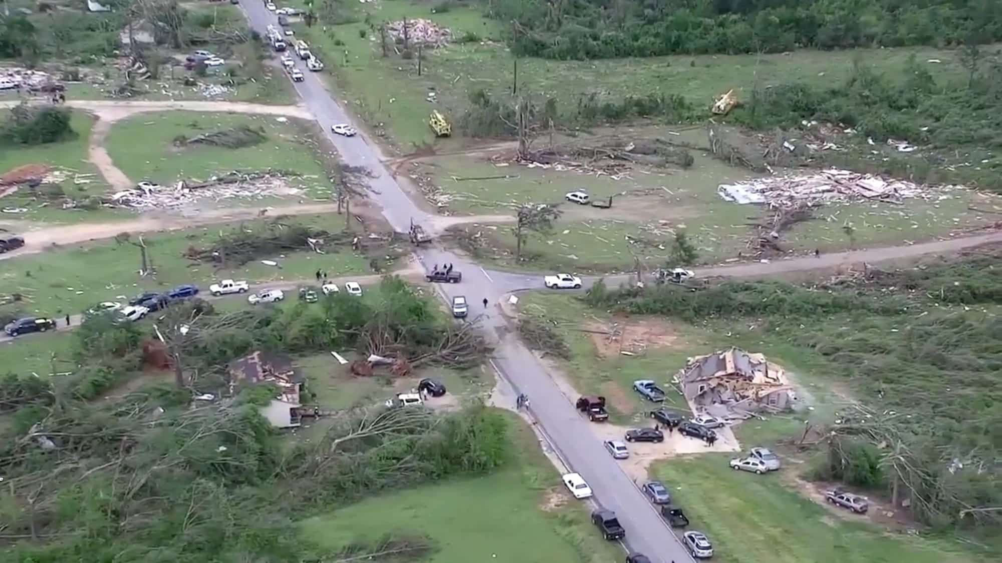 Drones capture devastation caused by tornadoes over Easter weekend