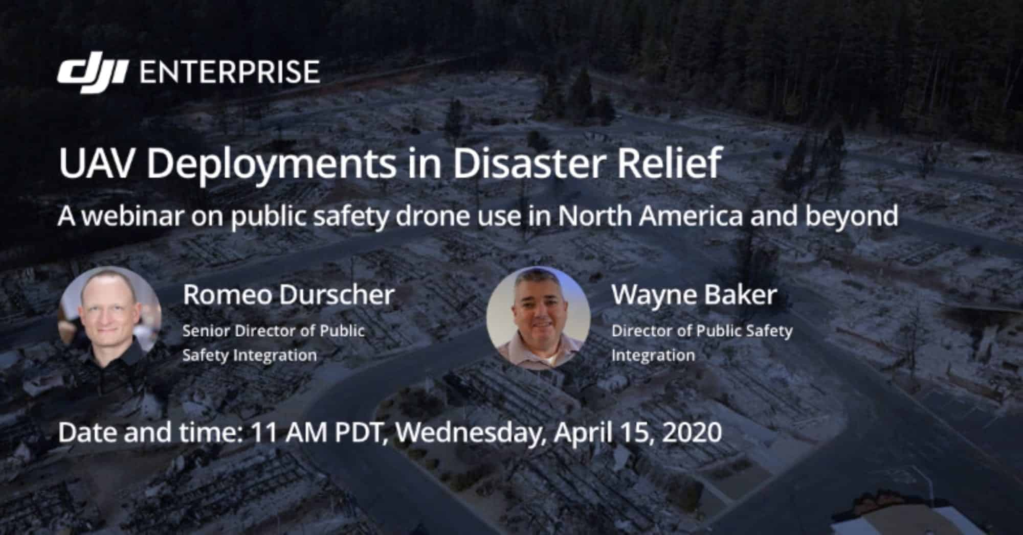 Join DJI's webinar on drone deployments in Disaster Relief