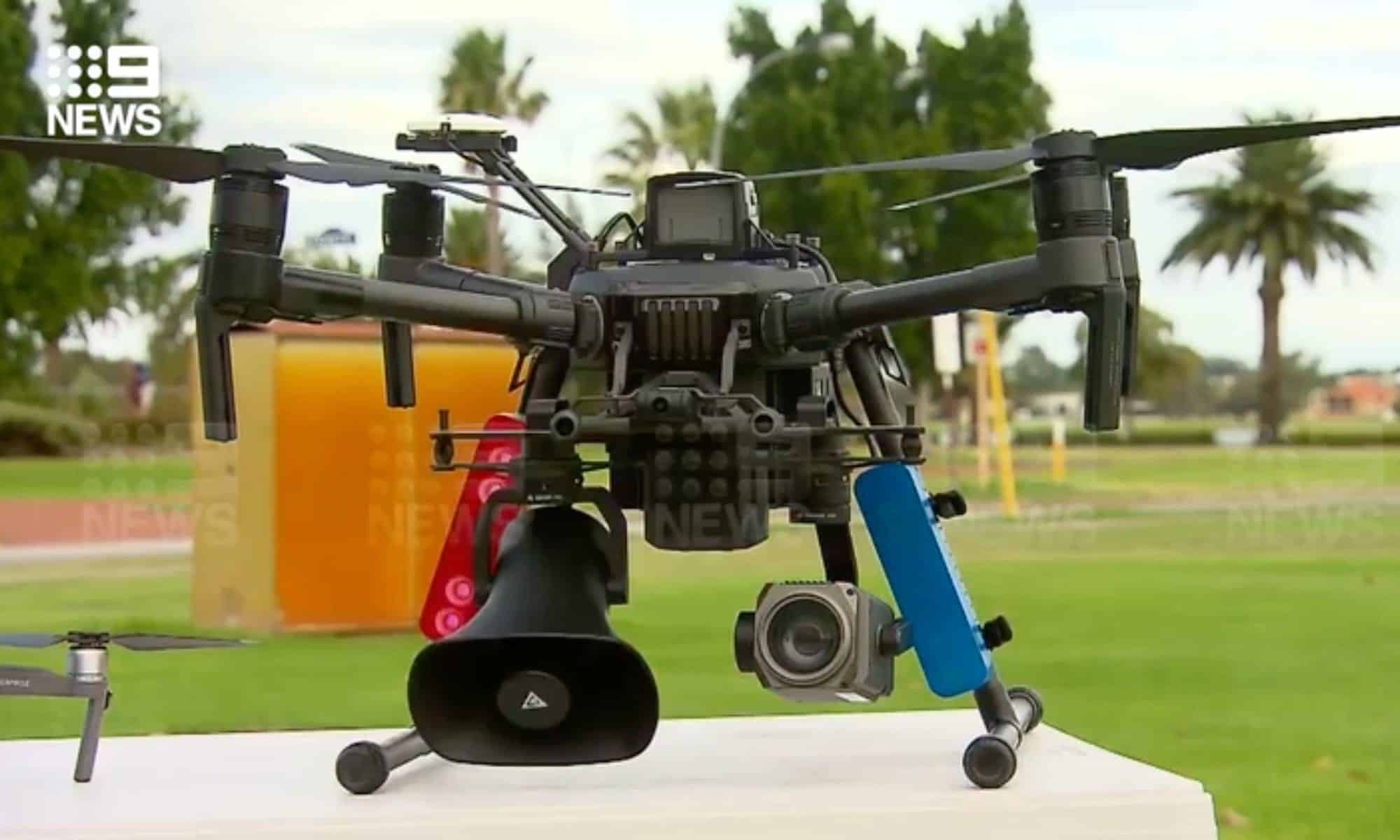Police around the world are using drones to warn public of Coronavirus