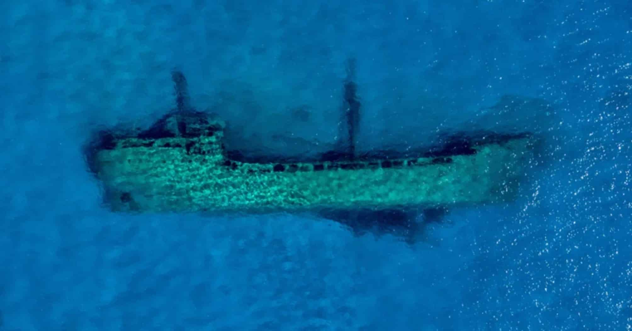 Shipwrecks in Lake Michigan are easy to spot with a drone