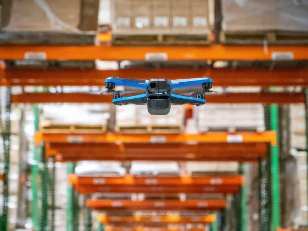 Skydio 2 drone counts warehouse inventory with Ware