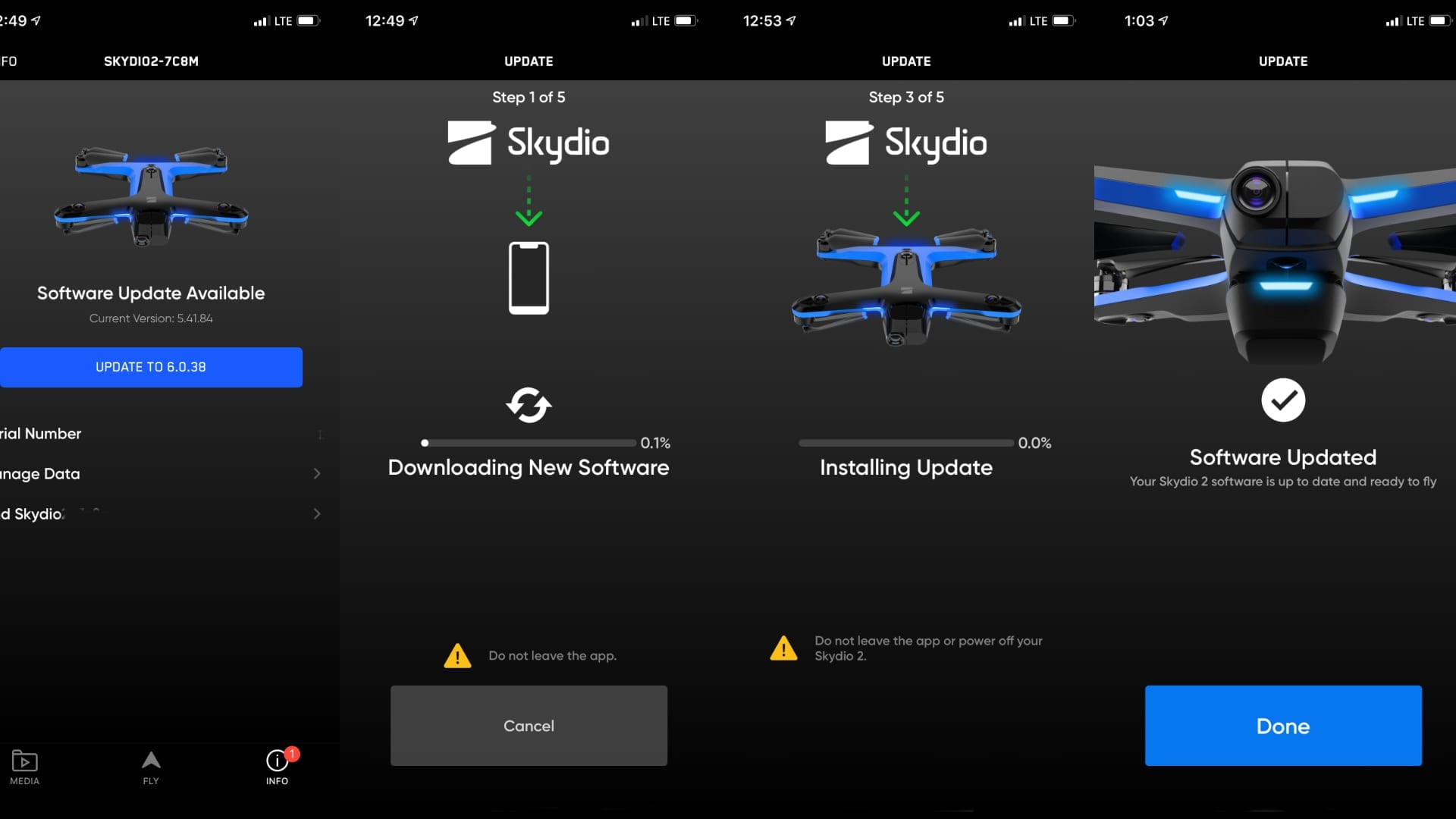 Skydio releases iOS firmware update for the Skydio 2 drone - Version 6.0.38