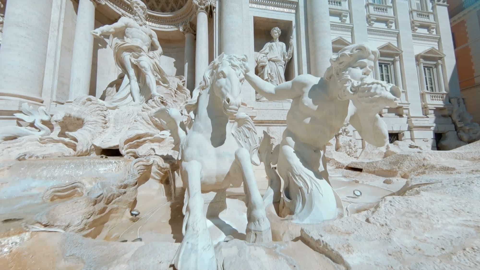 Stunning drone video shows Trevi Fountain like you have never seen it before