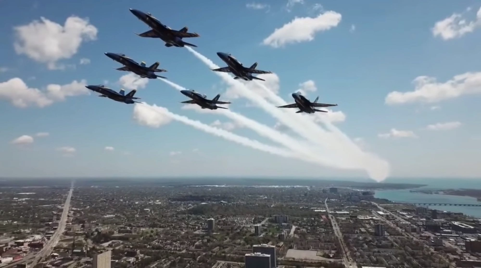 Blue Angels drone incident during Detroit America Strong Flyover