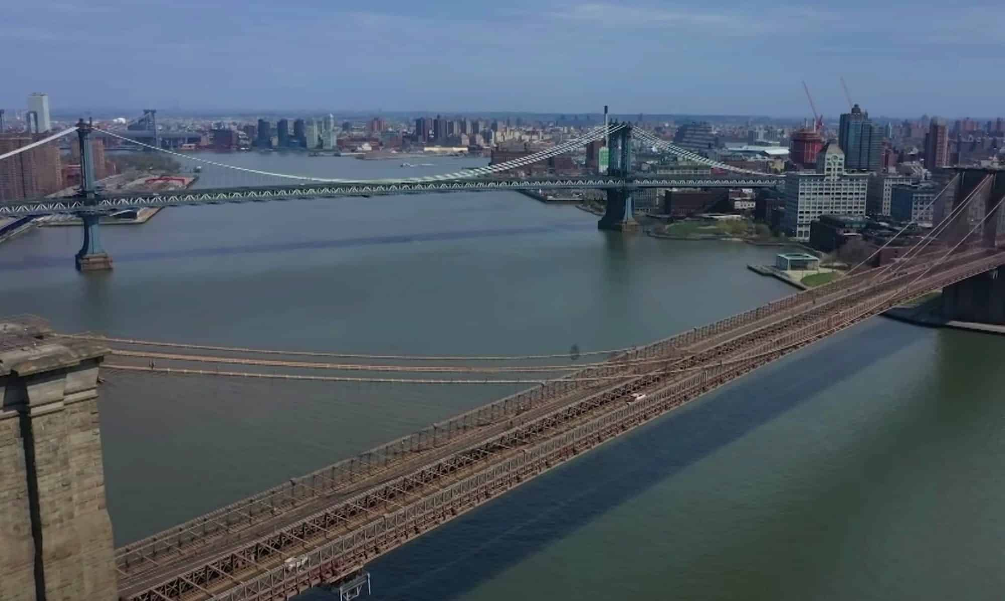Drone footage of New York City shows impact of coronavirus lockdown