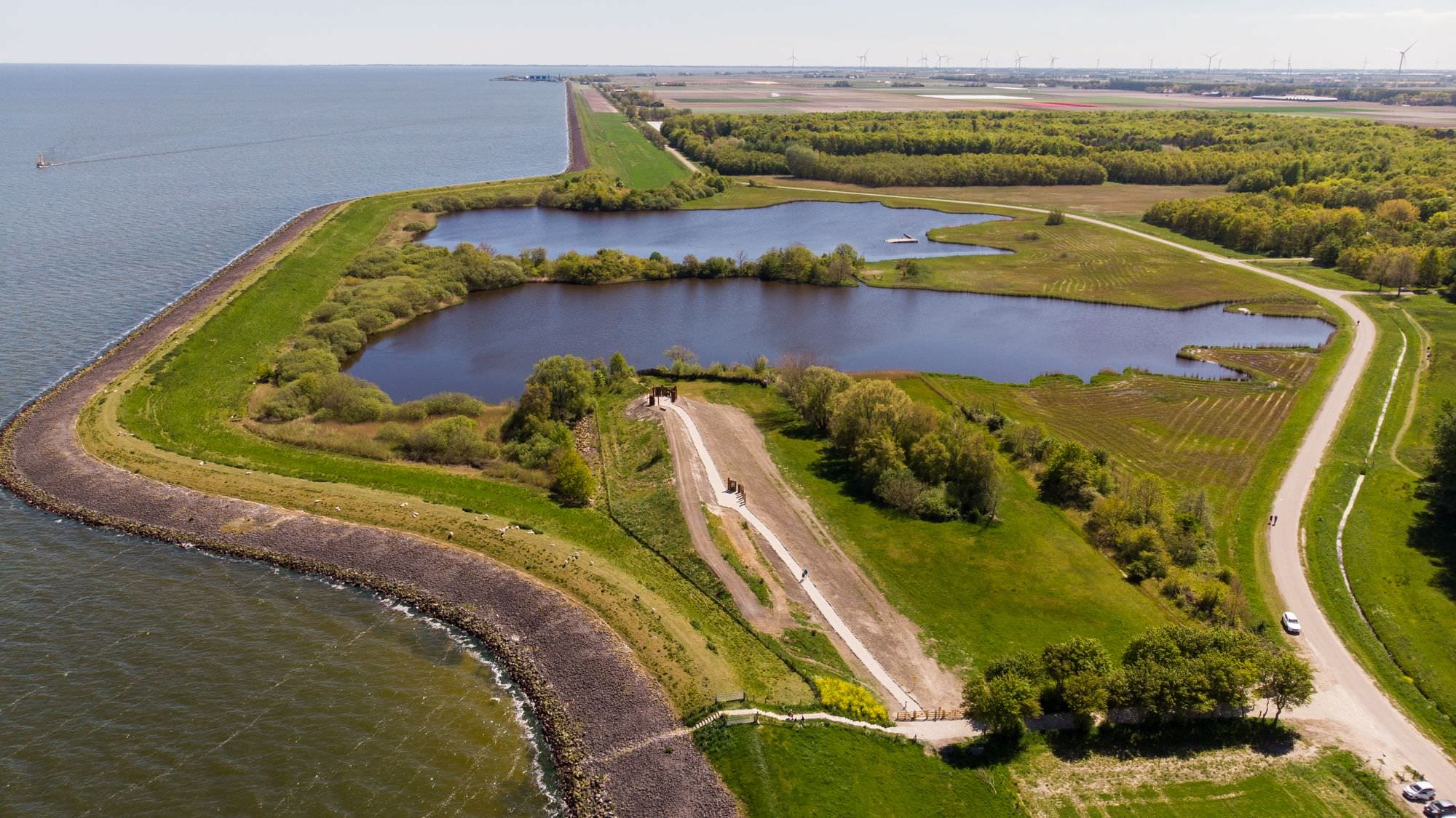 Drone photo shows World War II dike breach in The Netherlands