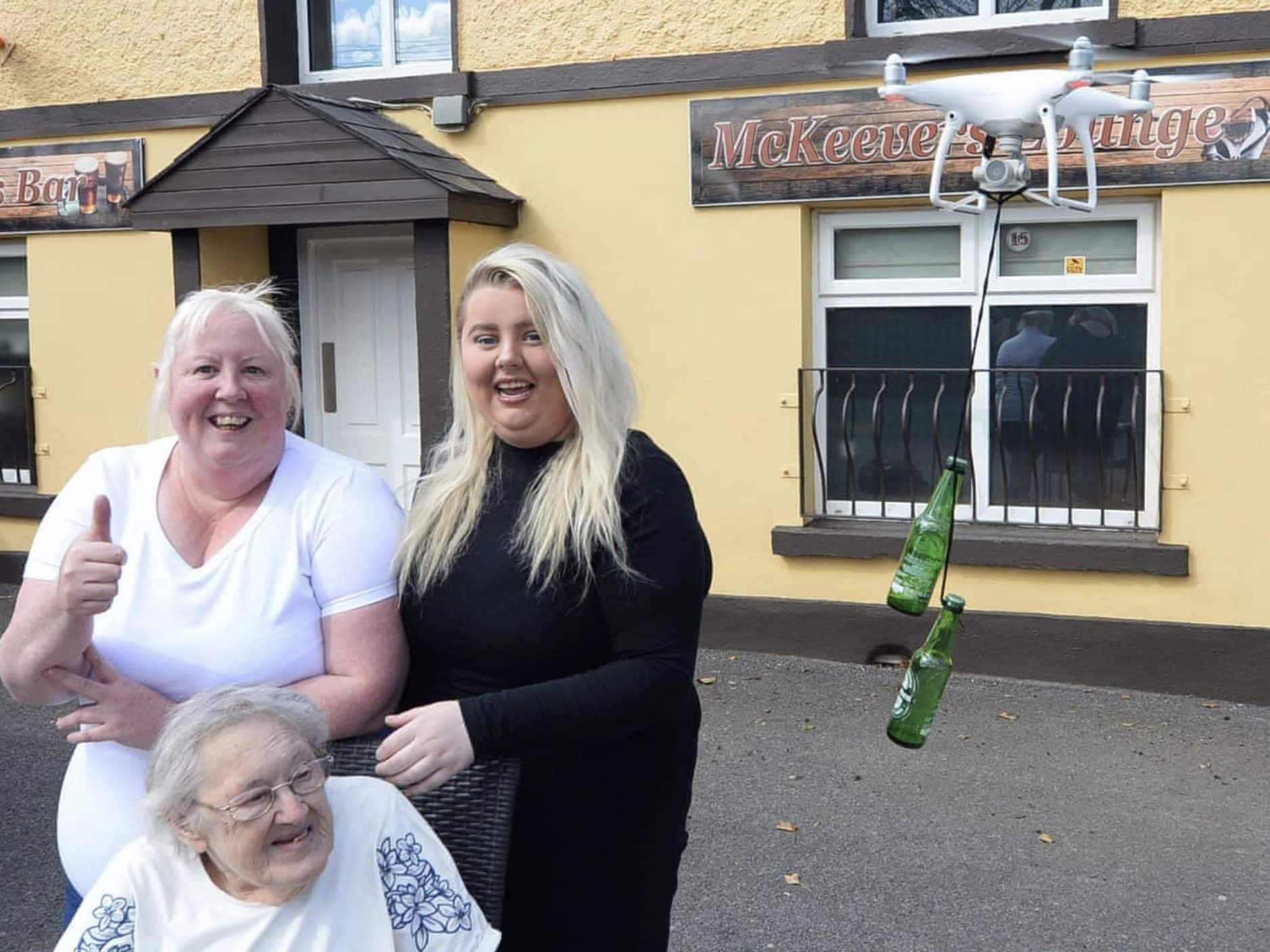 Irish pubs use drones to deliver Guinness and lift spirits