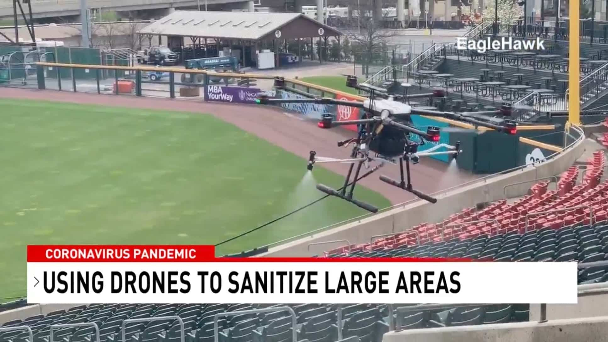 Kill coronavirus with drones made in Syracuse to bring sports back