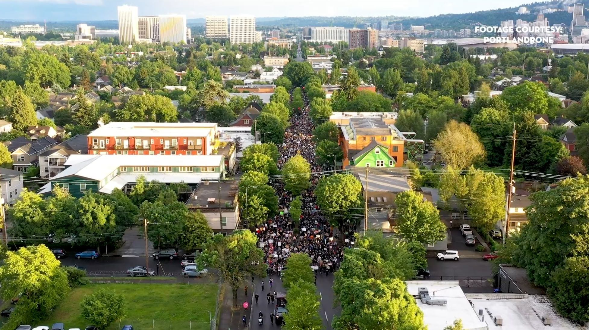 Capturing protesting crowds by drone safely without needing an FAA waiver