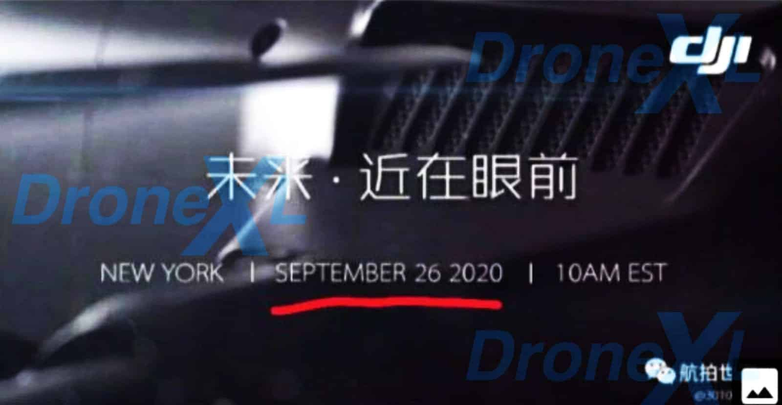 Mavic 3 release date September 26th, says leaked DJI announcement