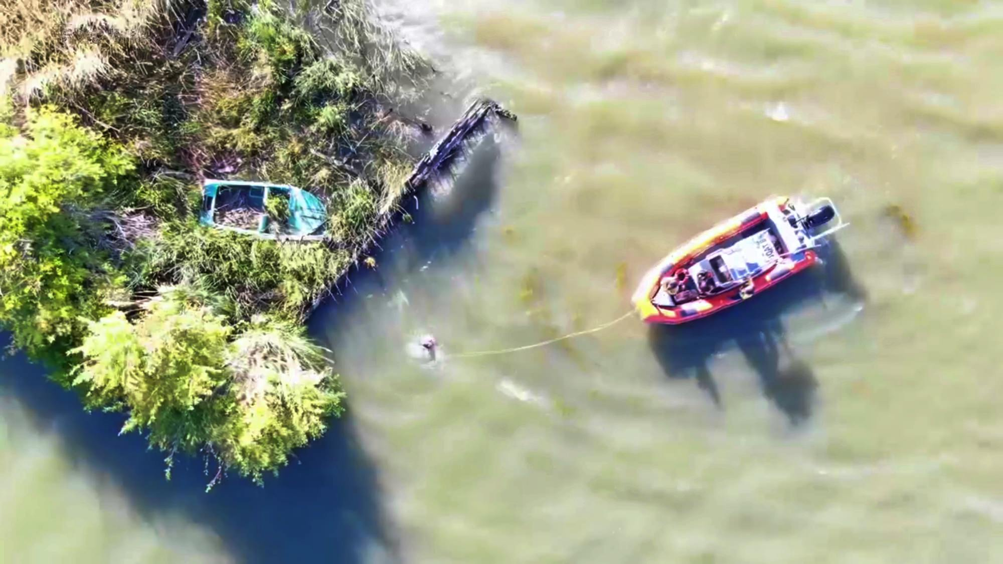 Drone finds father and daughter in San Joaquin River after their canoe capsizes