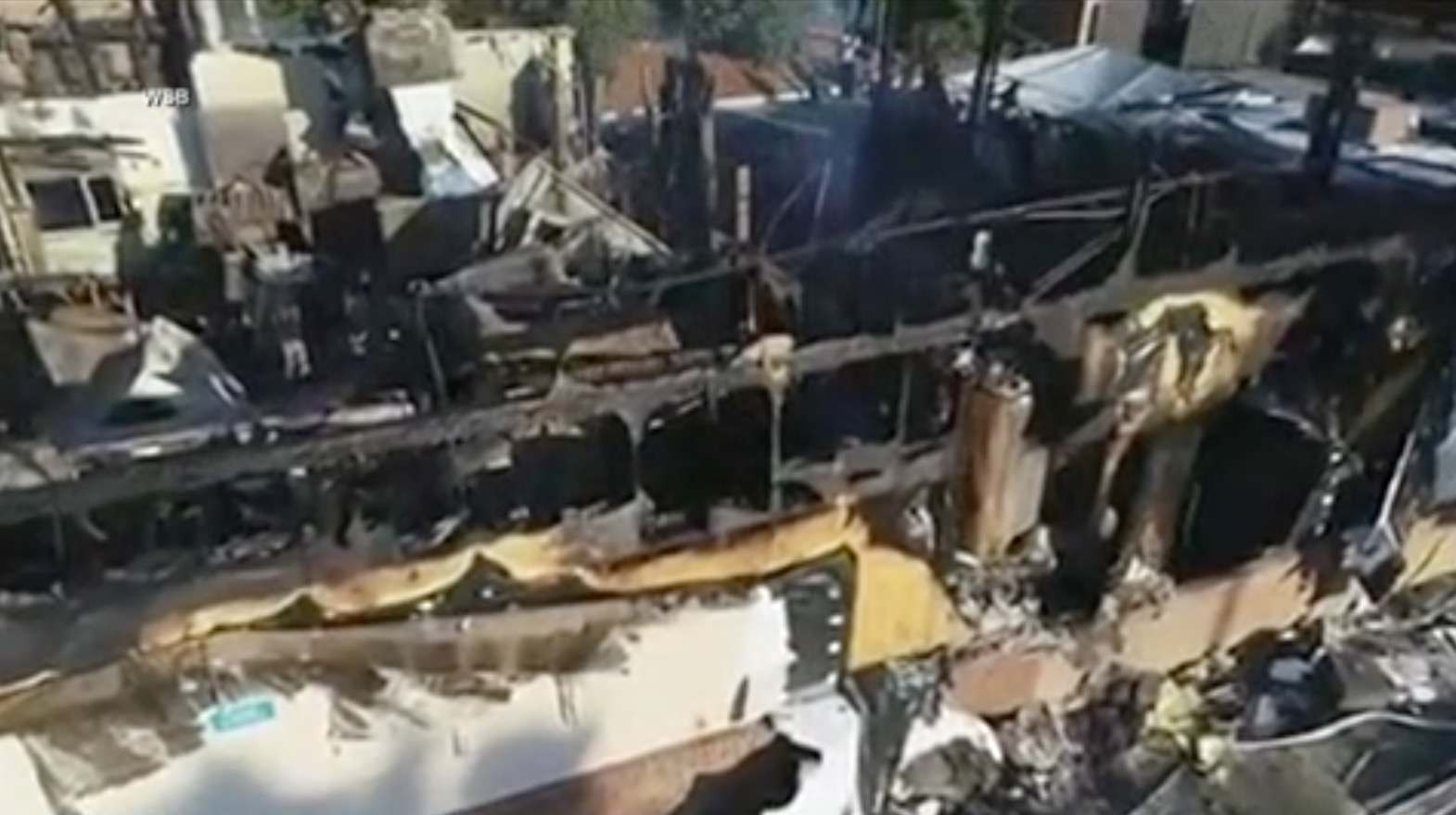 Drone footage shows what's left of Wendy's restaurant set on fire after death of Rayshard Brooks
