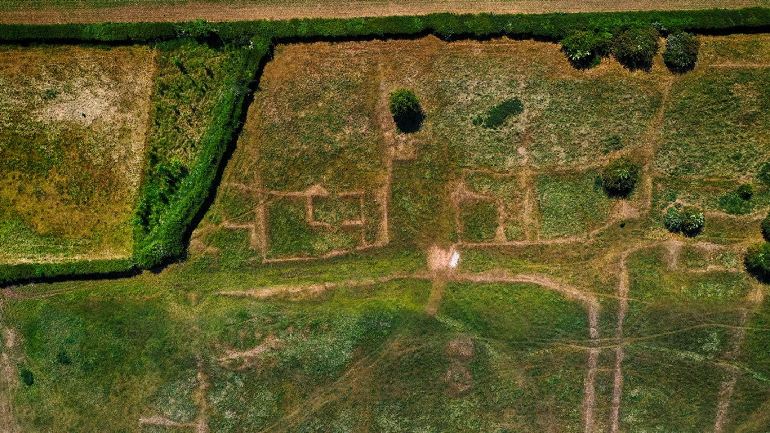 Drone photos show Gainsthorpe Medieval 'lost' village