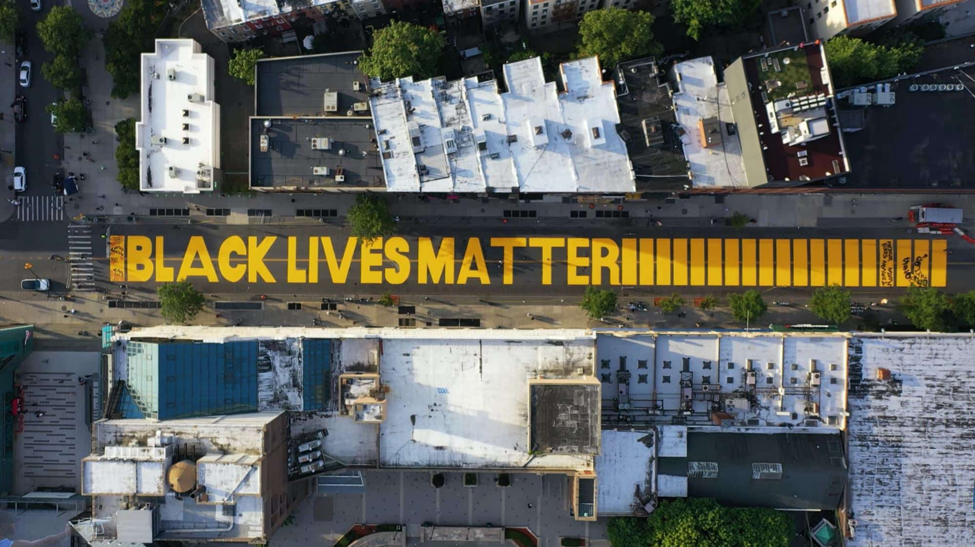 Drone video captures Black Lives Matter in Brooklyn, NY