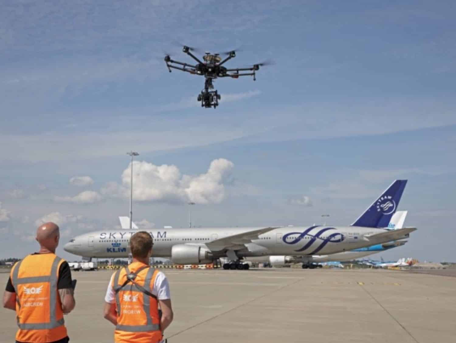 Schiphol Airport in Amsterdam begins trial with inspection drones