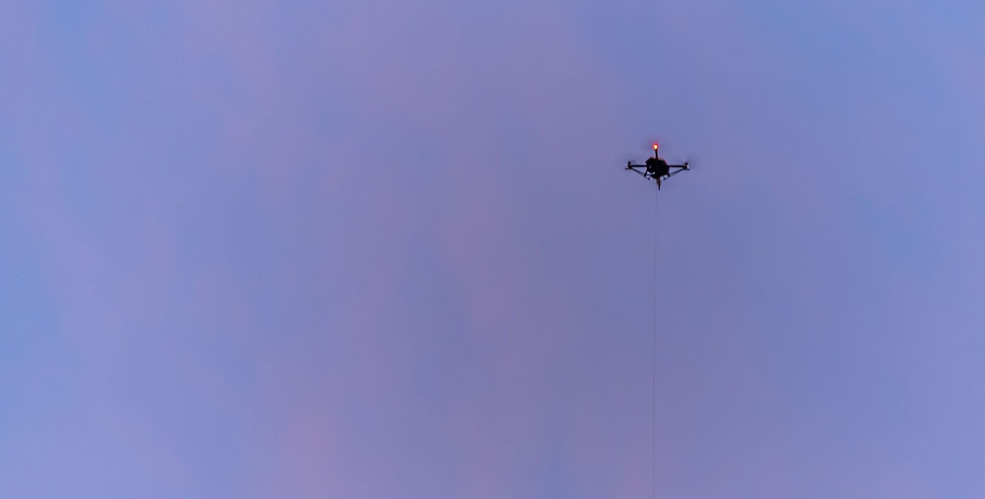Tethered drone seen near protests in White House area