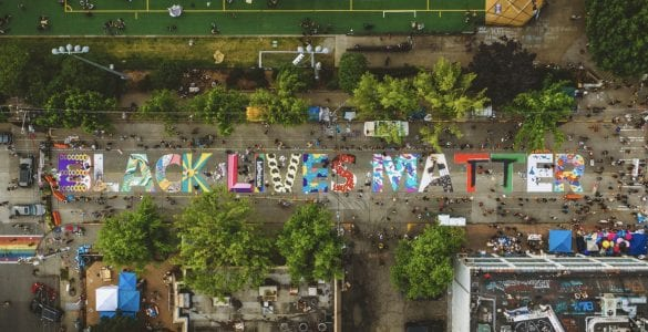 Drone video black lives matter seattle