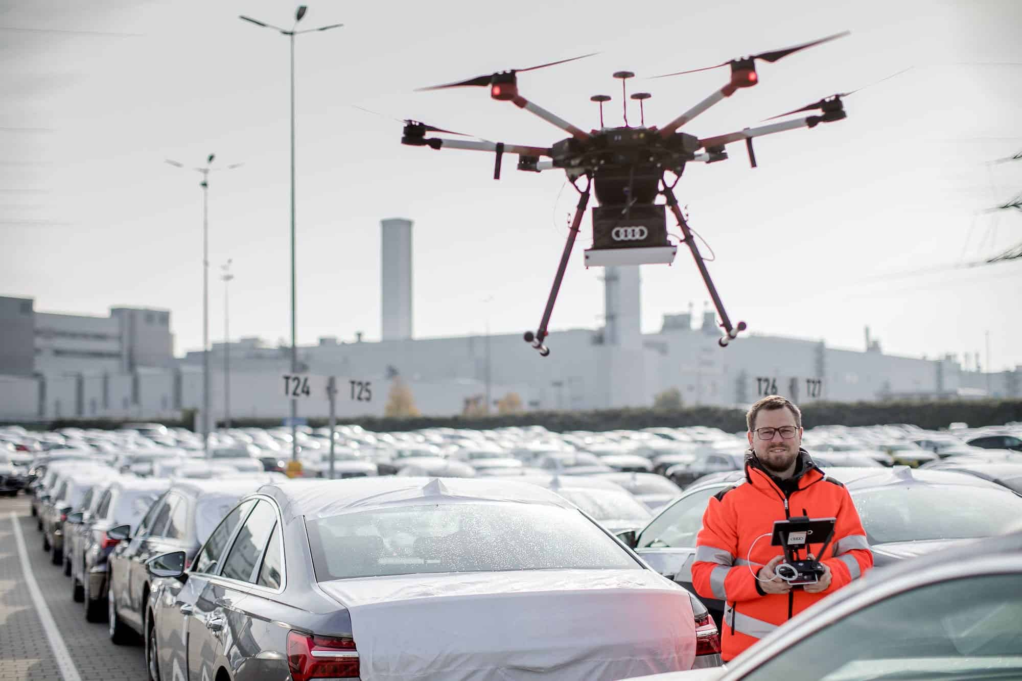 Audi uses drones to increase efficiency at Neckarsulm facility