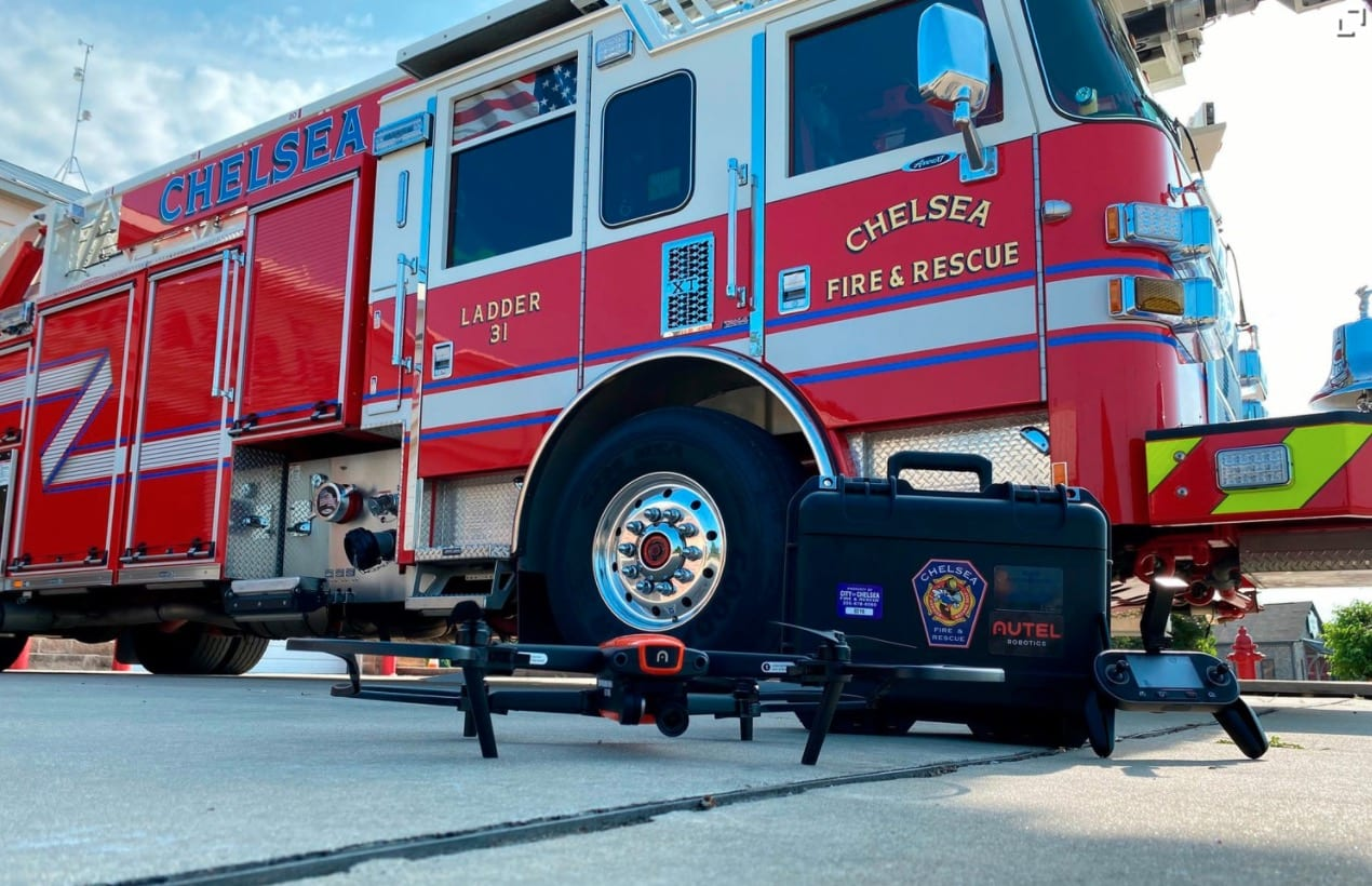 Chelsea Fire Department receives drone grant from the National Public Safety Drone Donation Program