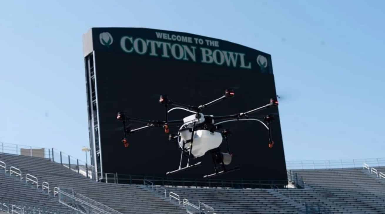 Disinfectant-spraying drones to fight coronavirus in Texas stadiums