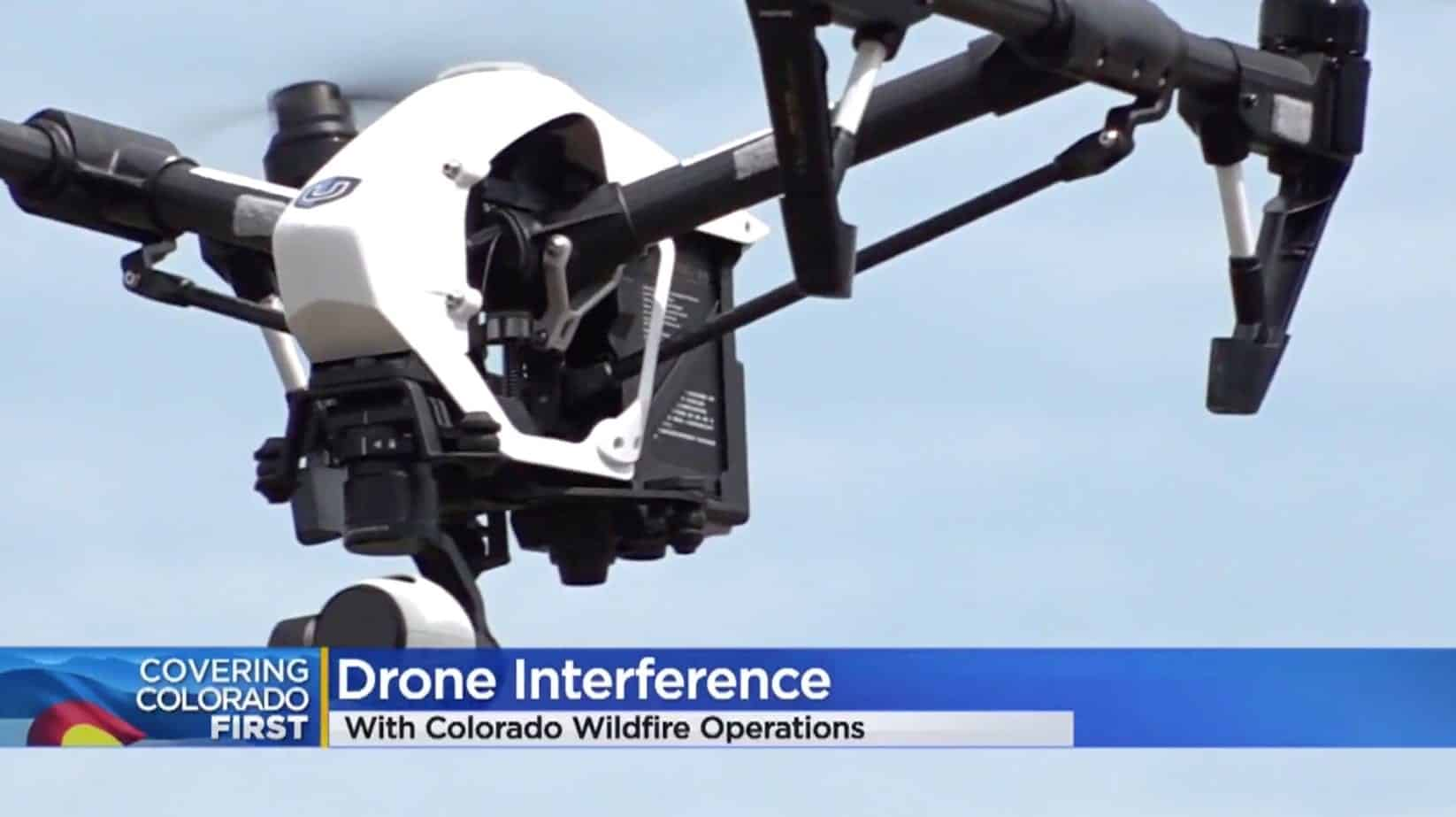 Don't interfere with wildland fire operations when flying your drone!