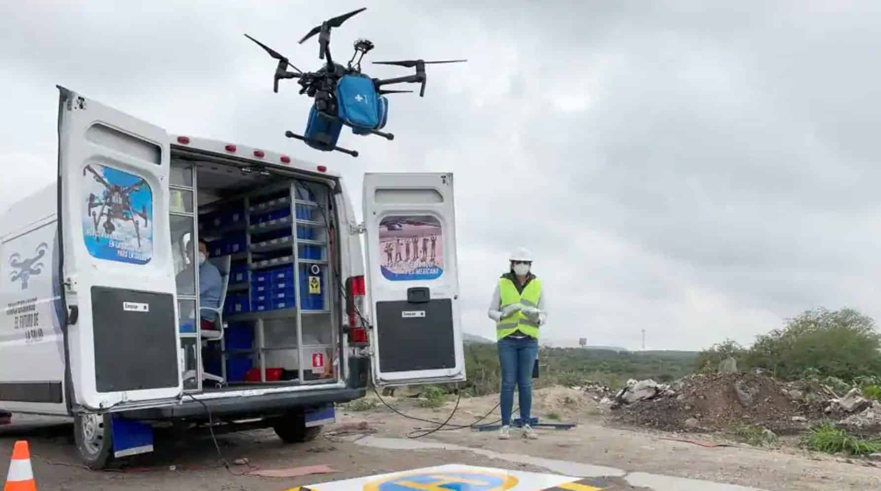 Facemasks delivered by drone in mexico hospitals
