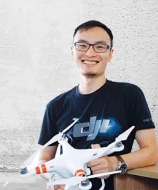 DJI's founder Frank Wang