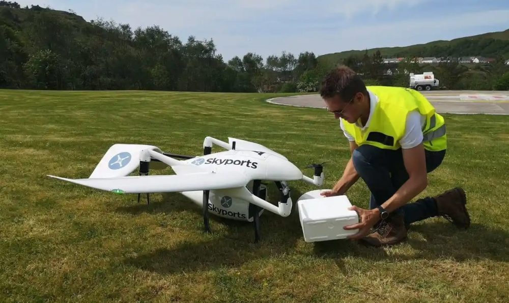 NHS expands delivery of medical supplies by drone from Scottish islands