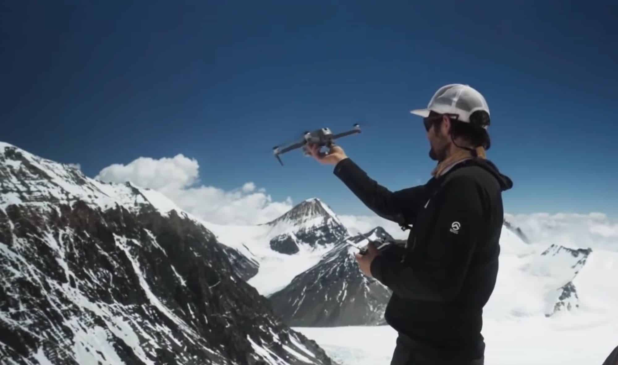 National Geographic team surveyed Mount Everest with a drone!