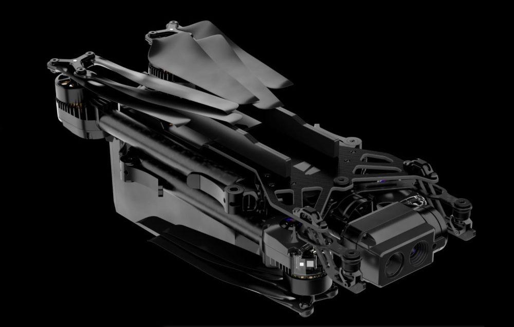 Folding skydio x2 drone
