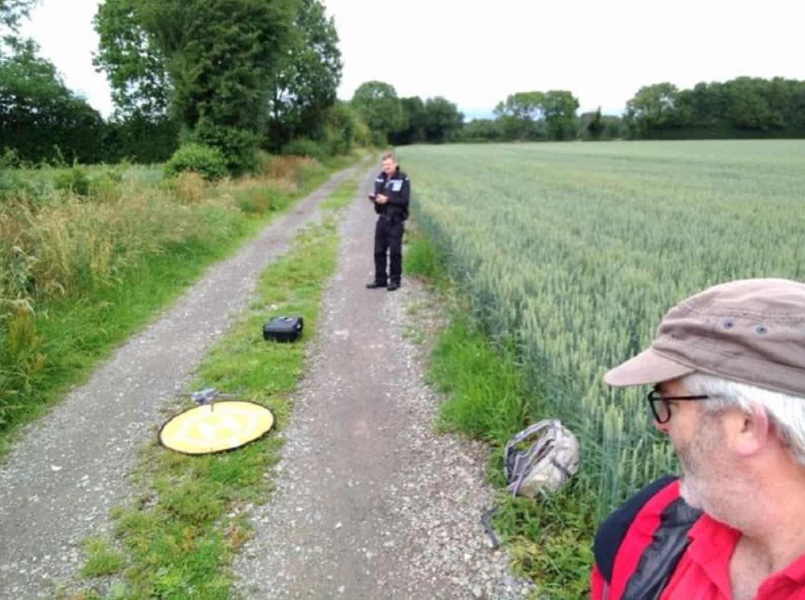 Another life saved with help from a drone flown by volunteer Search and Rescue team