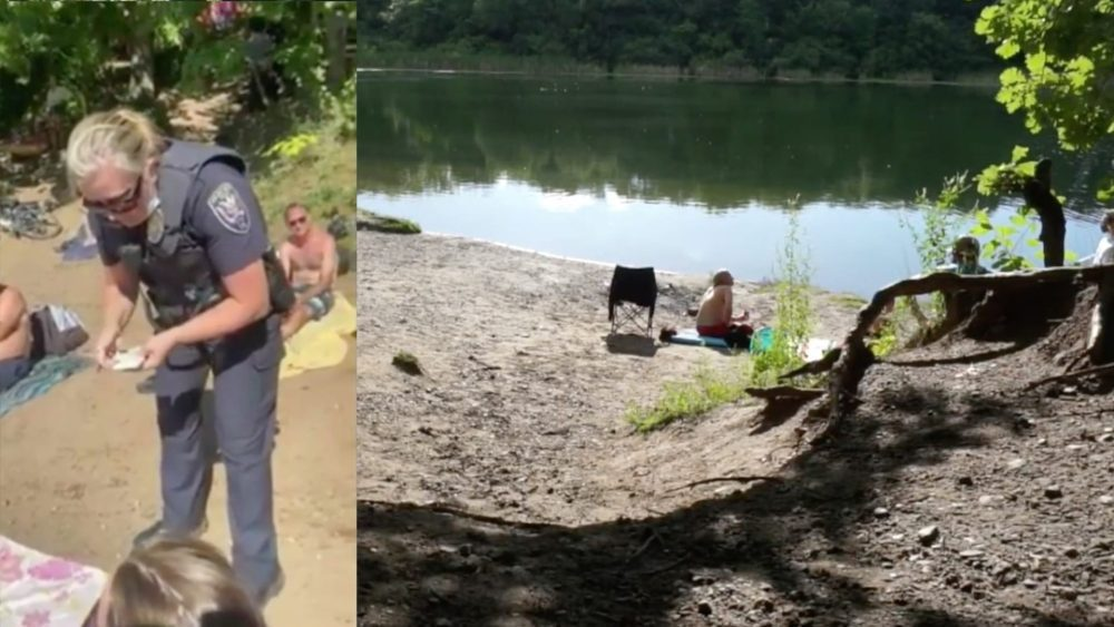 Police drone looks for nude and topless sunbathers at Twin Cities beach