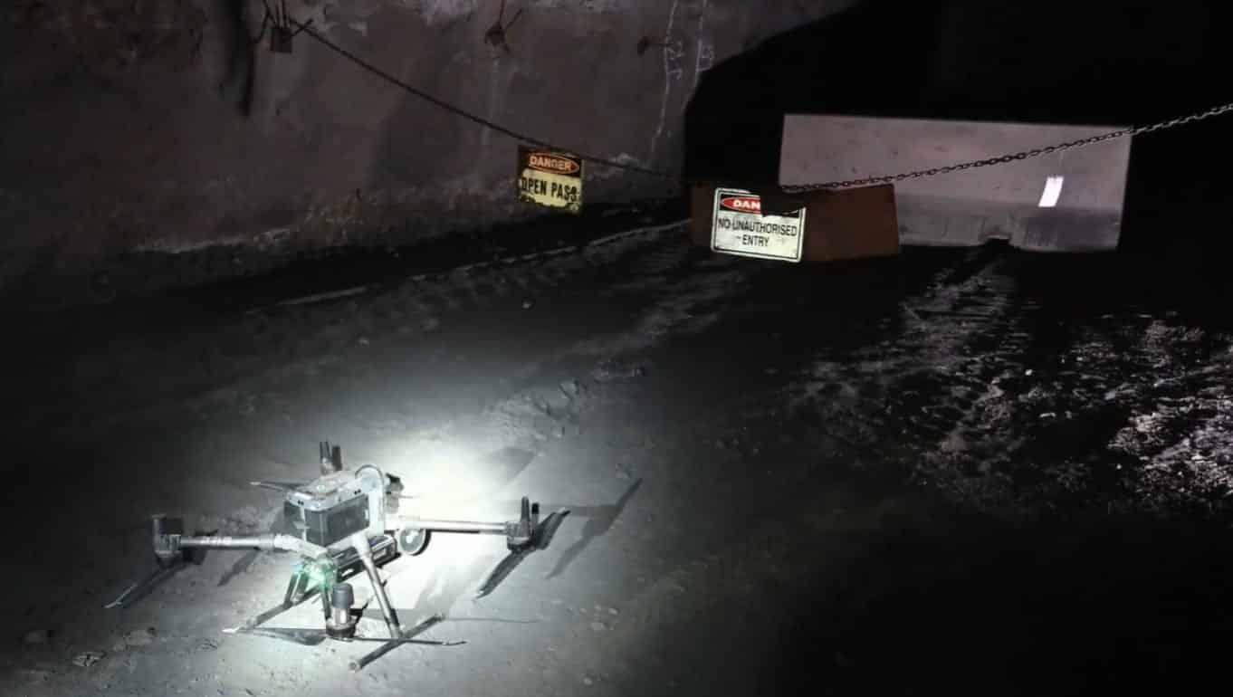 DJI Matrice 300 flies autonomously underground in Aussie mines