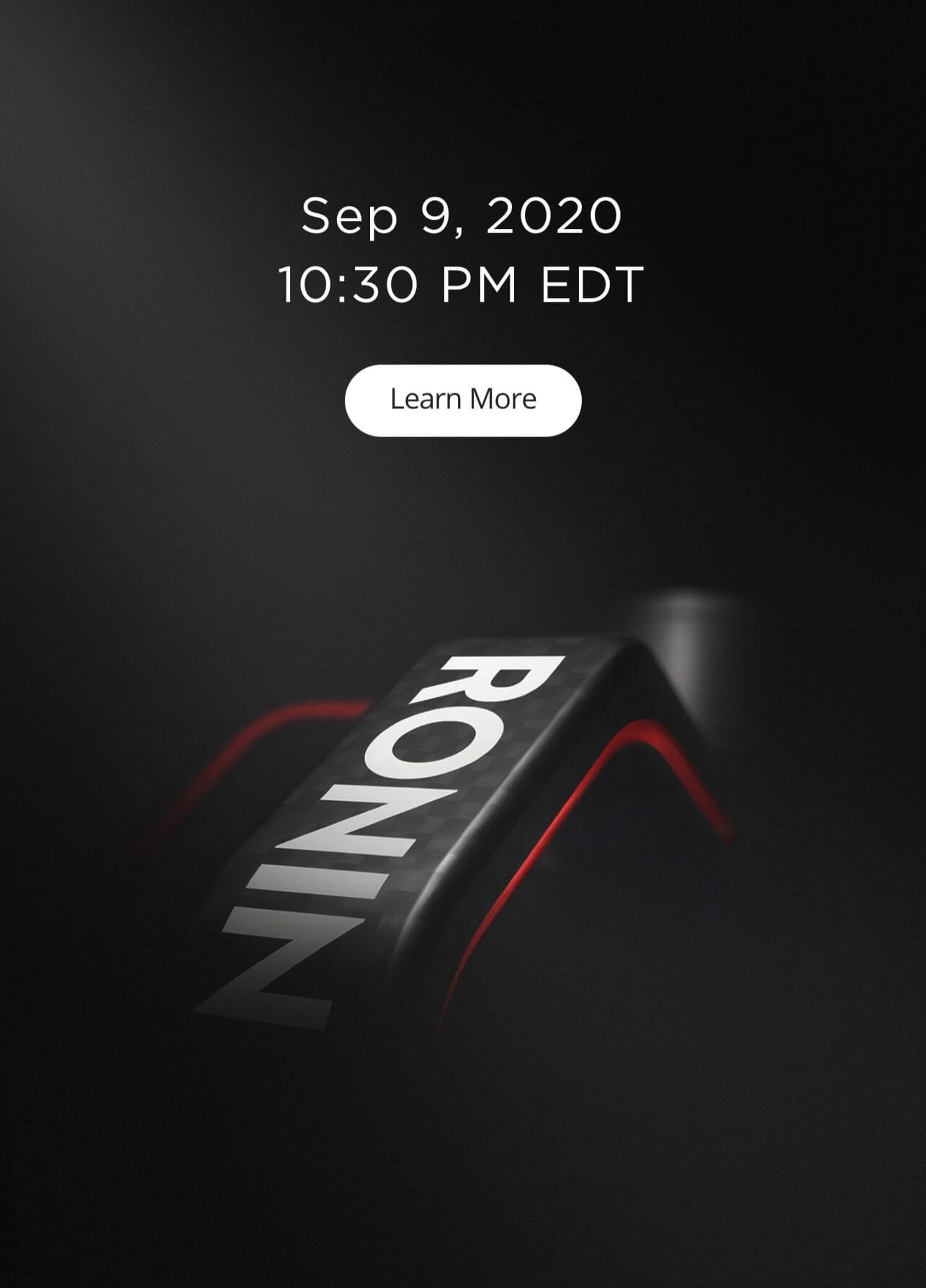 Ronin-RS2 release date is September 9th, 2020 at 10:30 p.m. EDT says DJI