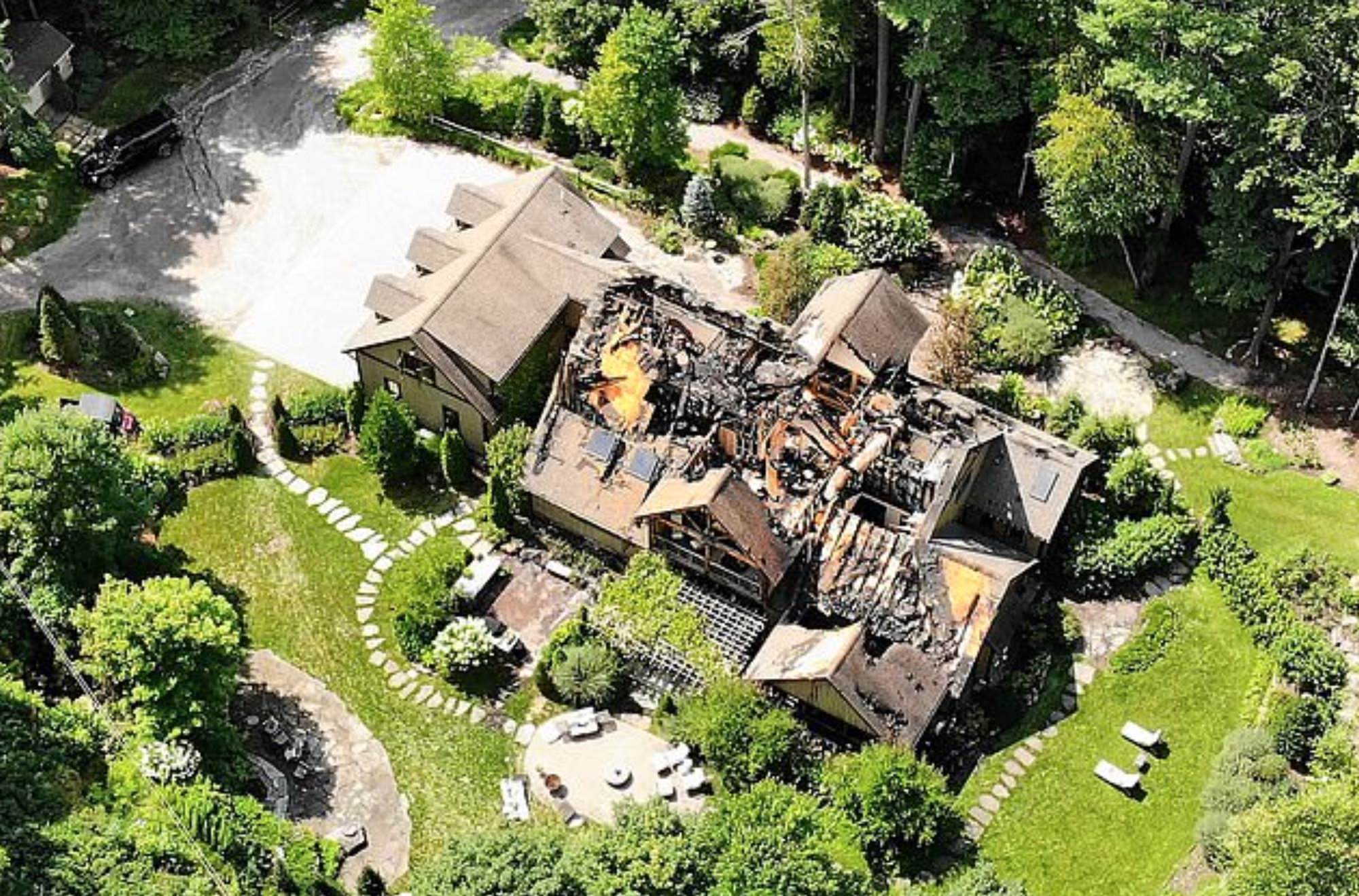Damage to Rachel Ray's mansion shown in drone photos