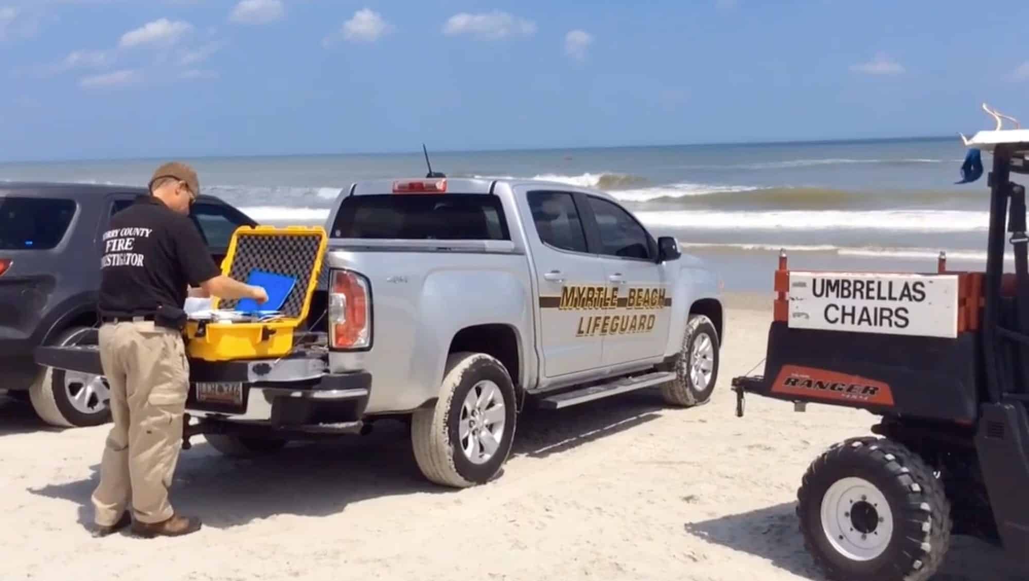 Drone used in Myrtle Beach search operations for missing swimmer