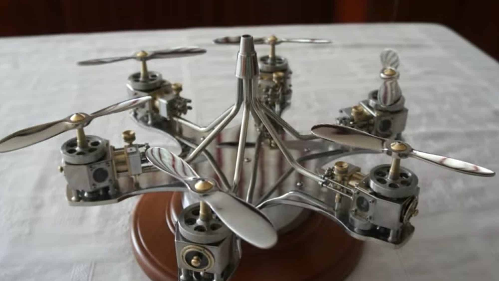 Flightless drone created by 80-year-old mechanic is a work-of-art [video]