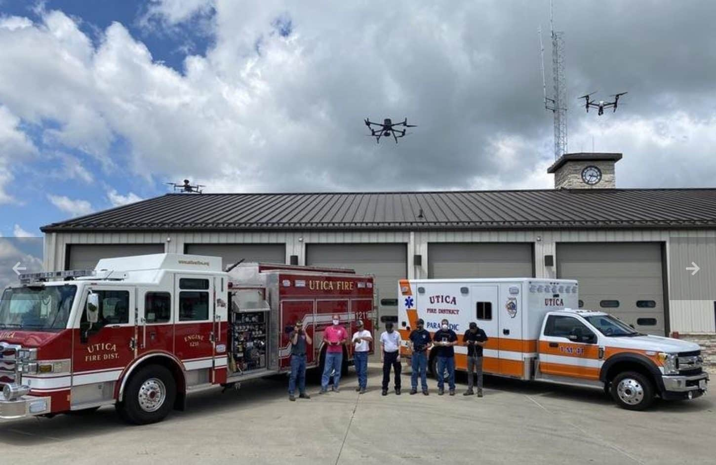 DJI M300 RTK with Zenmuse H20T bought by Utica Fire Protection District