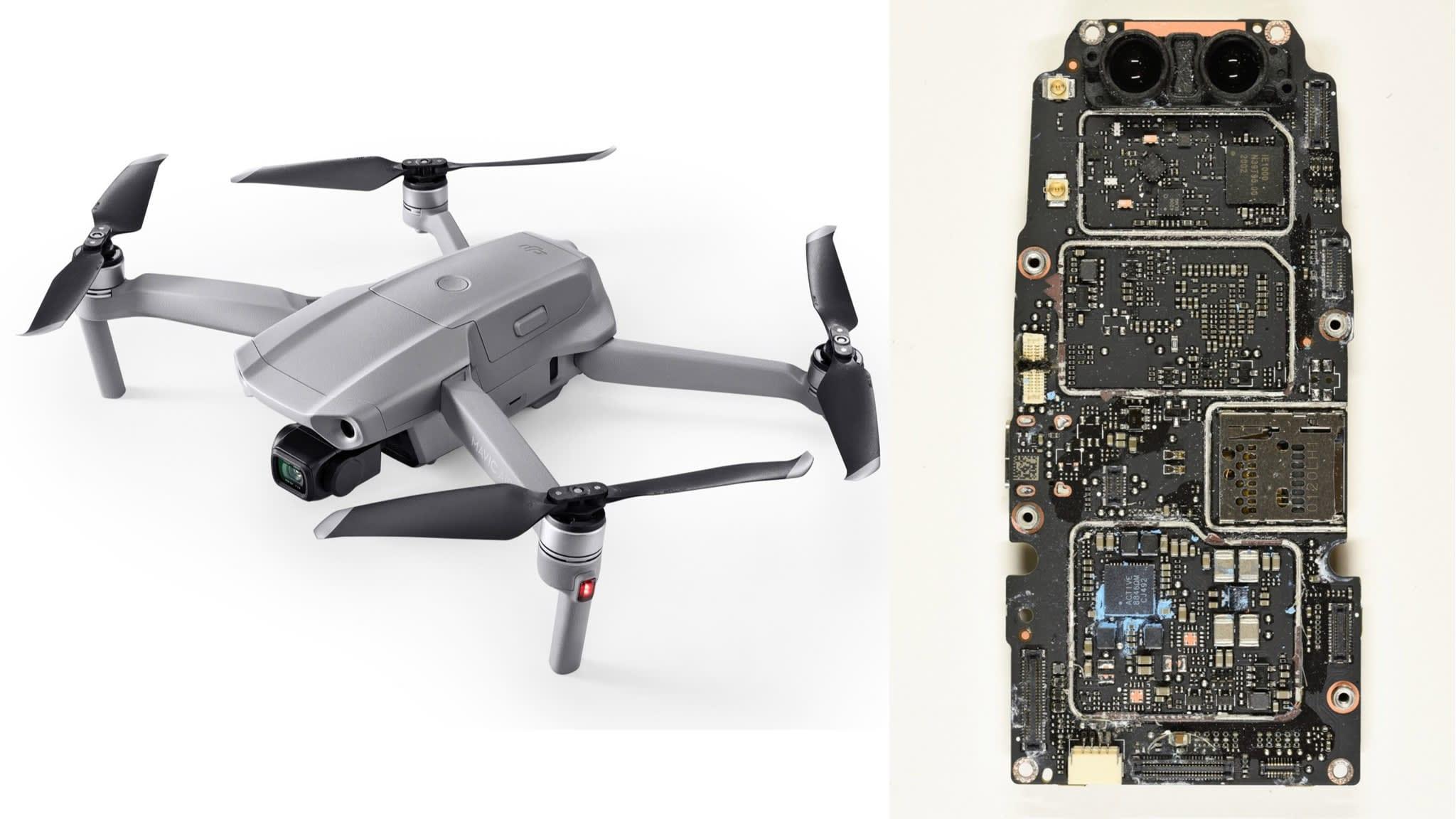 DJI Mavic Air 2 teardown reveals many parts made in the USA