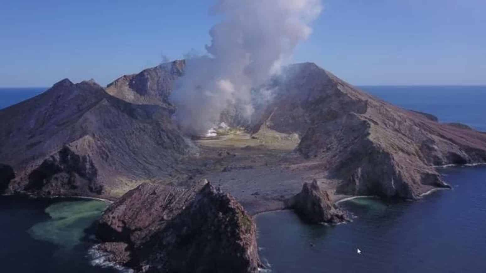 Drone photos show aftermath of White Island volcano eruption