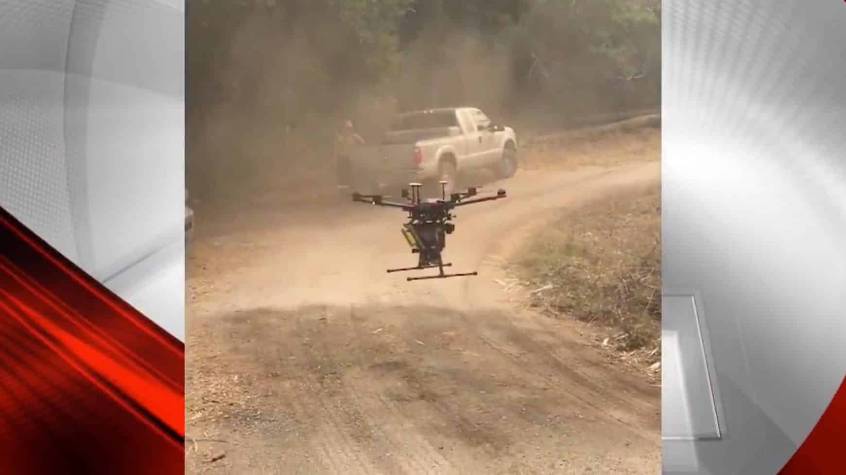 Firefighters turn to drones to fight Woodward Fire in Marin County