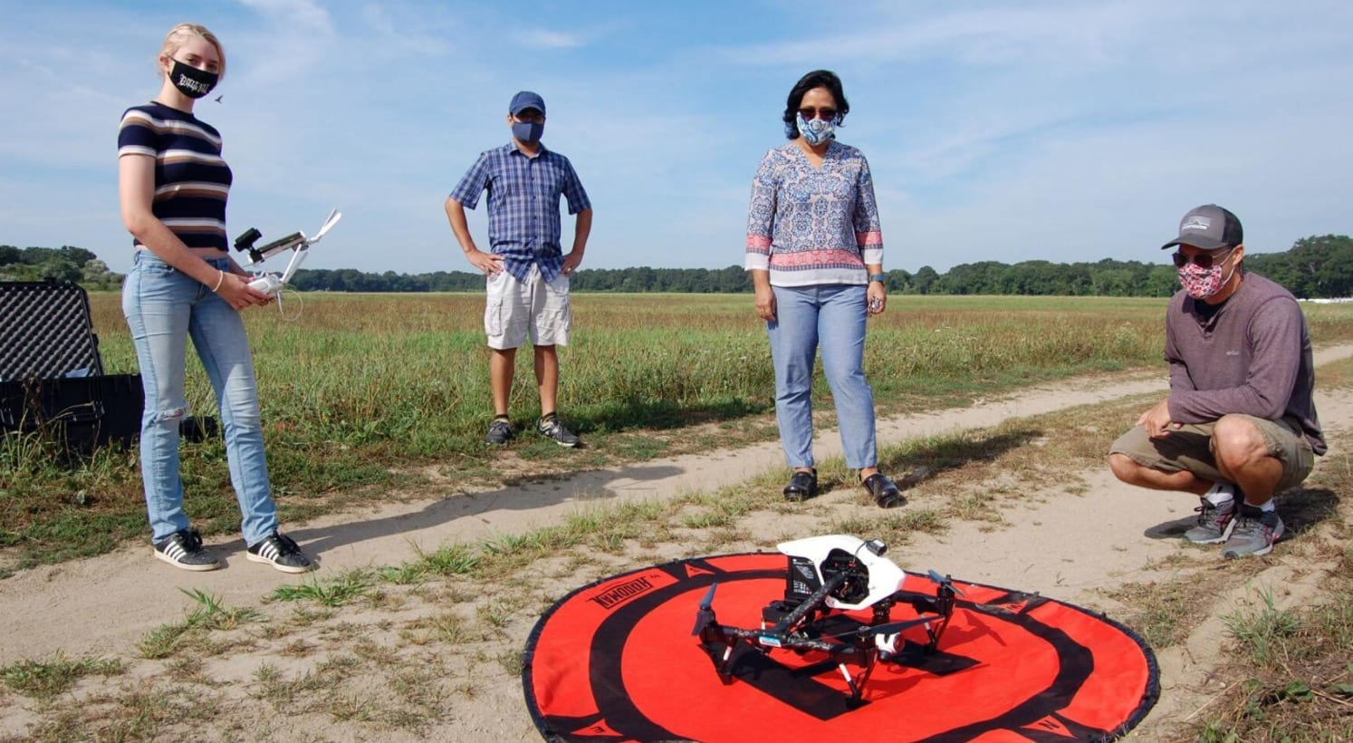 Groundwater tracking drone used by URI researchers to monitor salt ponds