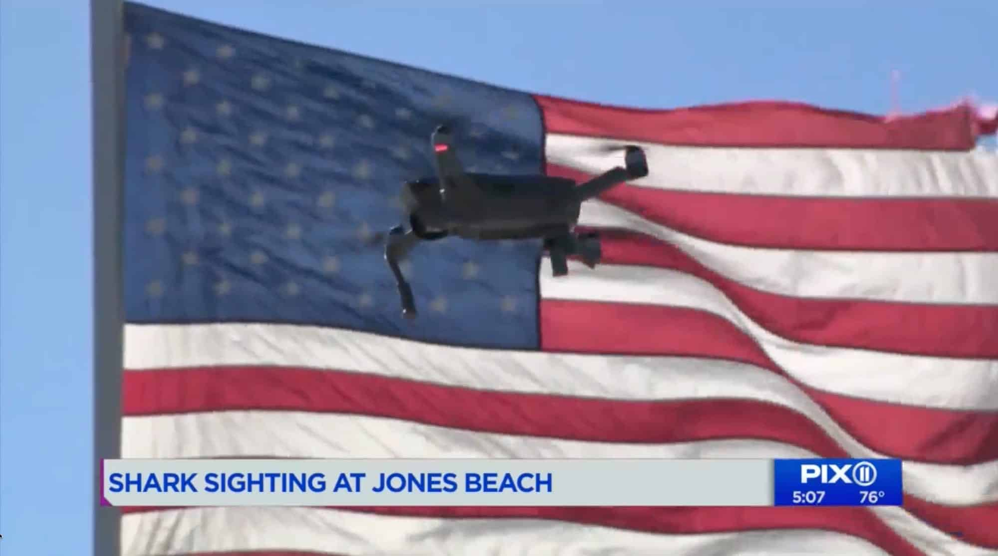 Jones Beach lifeguards with drone keep swimmers safe from feeding sharks over Labor Day Weekend