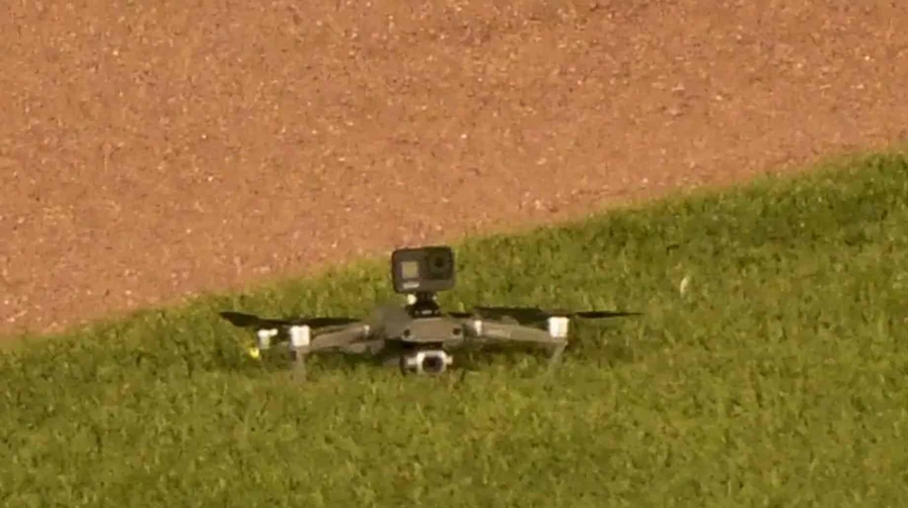 DJI Mavic 2 Pro delays Cleveland Indians and Chicago Cubs baseball game