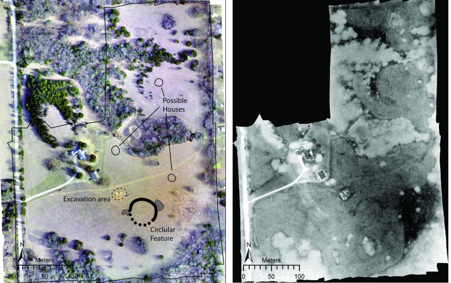 Thermal drone reveals ancestral Wichita site in Kansas