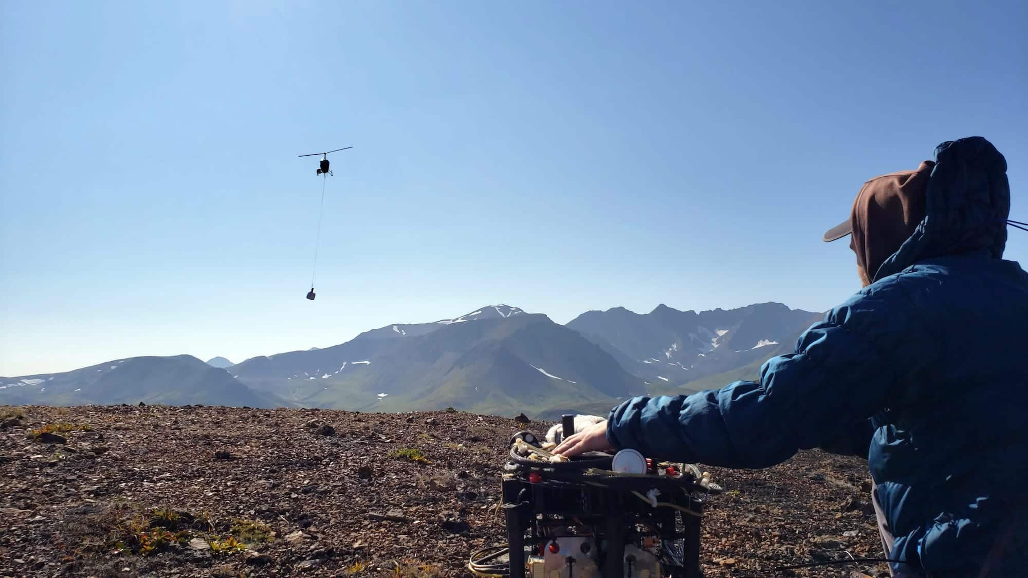 Prospecting for gold, uranium, and other precious metals with a drone